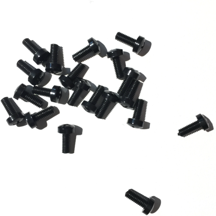 50 x Nylon Black M3 Eurorack Screws