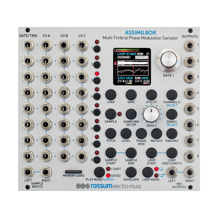 Rossum Electro-Music Assimil8or Multi-timbral Phase-modulation Sampler