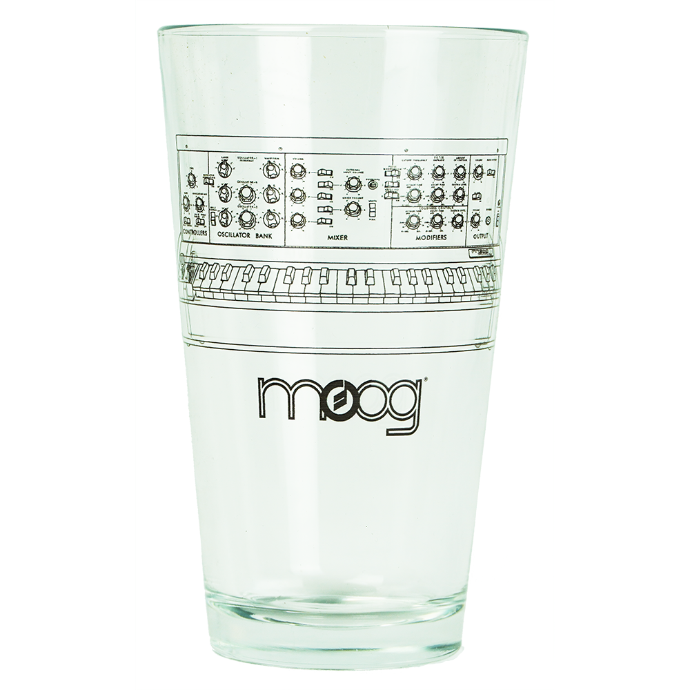 Moog Minimoog Pint Glass