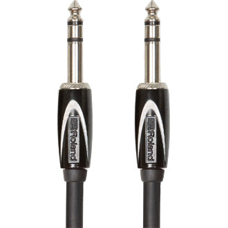 "Roland Black Series TRS 1/4"" to TRS 1/4"" Cable 10'"