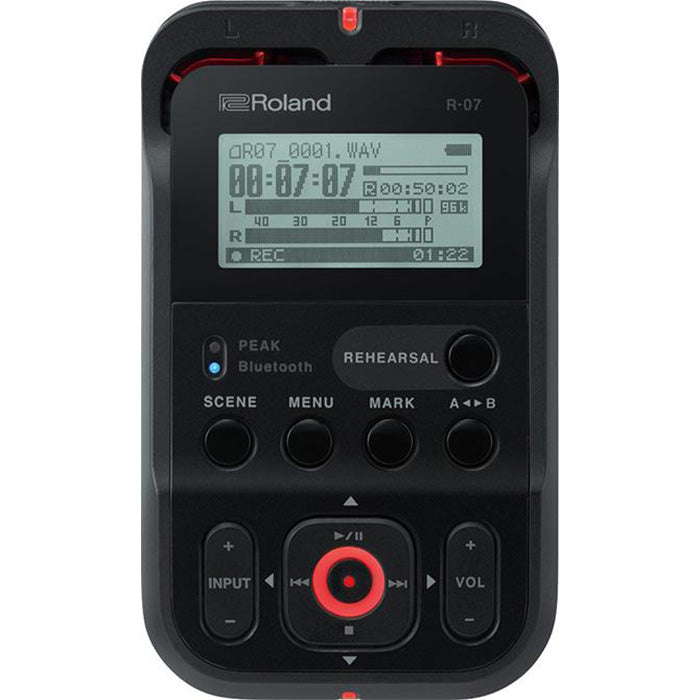 Roland R-07-BK High-Resolution Handheld Audio Recorder