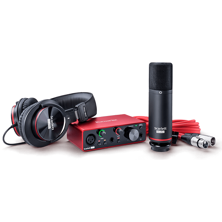 Focusrite Scarlett Solo Studio Audio Interface, Mic, and Headphones Bundle
