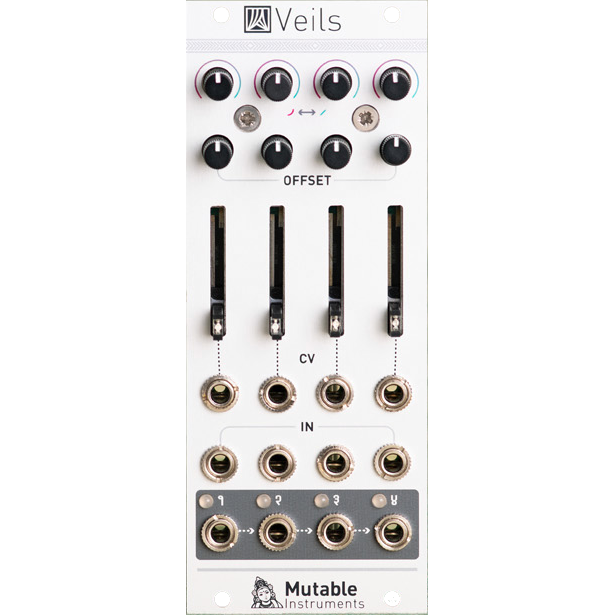Mutable Instruments Veils V2 Quad VCA