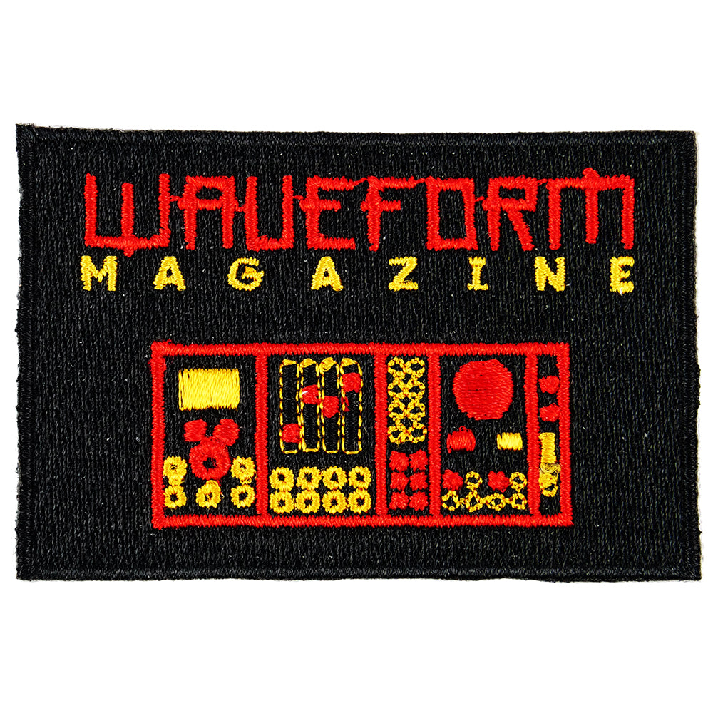 Waveform Magazine Iron-On Patch