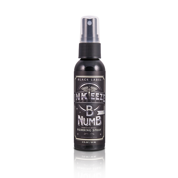 "INKEEZE B Numb Numbing Spray ""Black Label"". Choose 0.33 oz or 2oz"
