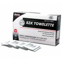 Dukal Antiseptic Cleansing BZK Towelettes, 100 pads per box.