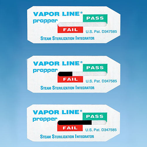 Vapor Line® Steam Sterilization Type 5 Integrator Strips, Choose 100 Pack or 250 Pack.