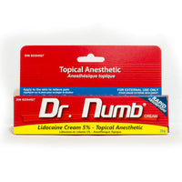 Dr Numb 30g Lidocaine 5% Cream Topical Anesthetic.