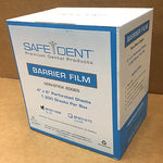 Barrier Film by Safe-Dent, comes in a Self Dispensing Box. CHOOSE Blue or Clear.