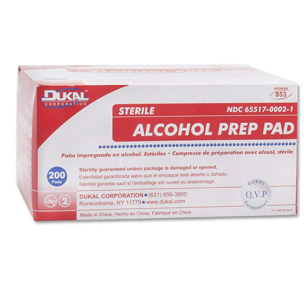 Alcohol Prep Pads, Large. CHOOSE single 100/box or Case of 10 boxes.