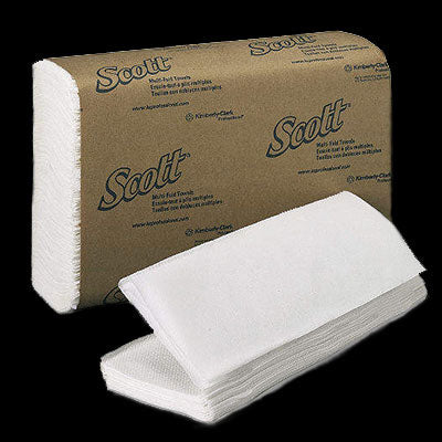 SCOTT® Multi-Fold Towels, 250/pk, 16pks/case, 4,000 Towels. Made in the USA