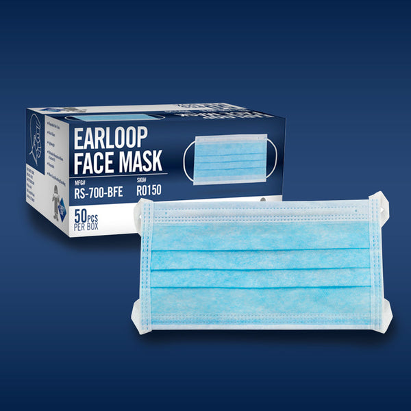 ***(STOCK ARRIVING SEPT 25)*** Safety Zone's PROCEDURAL FACE MASK RS-700, BLUE 50/box.
