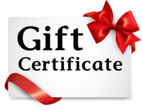 "GIFT CERTIFICATE $25 INCREMENTS. AT CHECKOUT CHOOSE THE ""FREE IN STORE PICKUP"" BECAUSE NO SHIPPING FEES APPLIES."