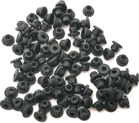 Rubber Grommet Nipples (Armature Bar Nipples) - BLACK. CHOOSE QTY, **REGULAR STIFFNESS**
