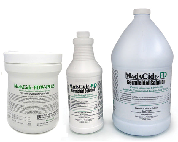 Madacide FD (Fast Dry). CHOOSE 1Gallon, 32oz Spray Bottle or WIPES ***CAN ONLY SHIP VIA UPS***