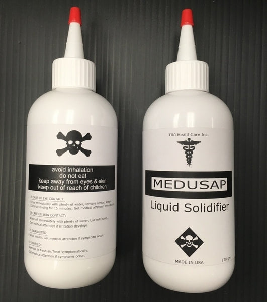 MEDUSAP Liquid Solidifier, 120gm. Made in the USA, Hospital Grade Product. Solidify a 5oz cup in less than 10 seconds.