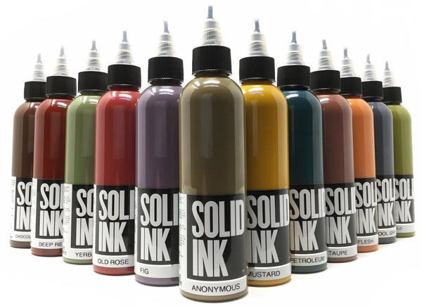 Solid Ink OPAQUE EARTH TONE 12 Bottle Set | Available in 1oz