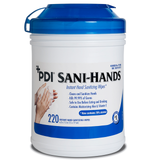 PDI Sani Hands, Hand Wipes Large 6 x 7½ (blue cap) CHOOSE Size and Qty