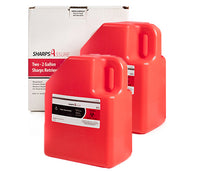 Sharps Mail Back Disposal System 2 Pack of 2 Galons = 4 gallons total (comes with prepaid box and postage)