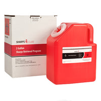 Sharps Mail Back Disposal System 1 or 2 or 3 Gallons. (comes with prepaid box and postage)