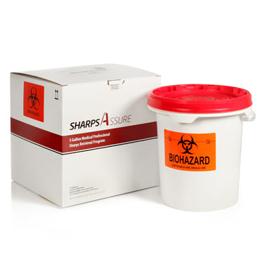 Sharps Mail Back Disposal System 5 Gallon. (comes with prepaid box and postage)