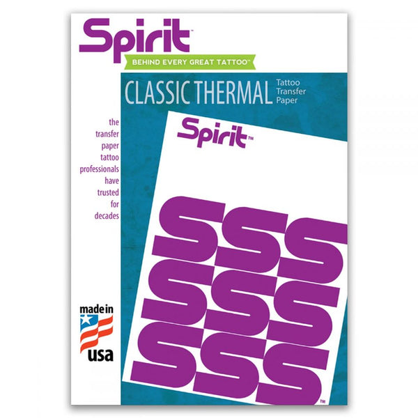 Spirit CLASSIC Thermal Transfer Paper. CHOOSE 8.5 x 11 or 8.5 x 14, 100/box