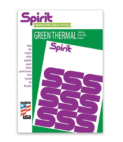 Spirit GREEN Thermal Transfer Paper 8 1/2 x 11