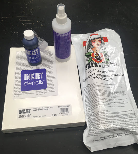 "Tatu-you™ Kit INCLUDES: Inject Stencil 4oz + Pacon Paper 500 Sheets + Stencil Prep 8oz & Biggest Tatu-Derm 11.5"" x 180"" (SAVE $25.00)"