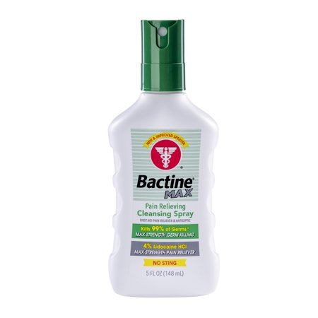 "NEW RELEASE = Bactine ""MAX"" 4% Lidocaine, Anesthetic+Antiseptic 5oz Spray."