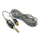 Bishop Premium Lightweight RCA Clip Cord - 7 ft, Choose from 3 Different Colors.