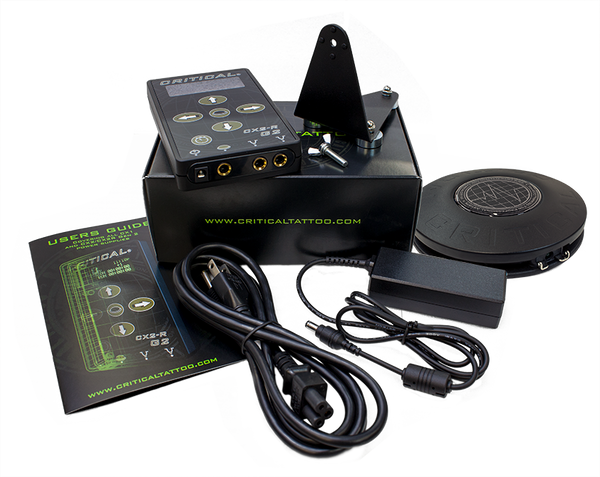 Critical Tattoo COMBO Cx-2R® Power Supply and Wireless Foot Switch Set
