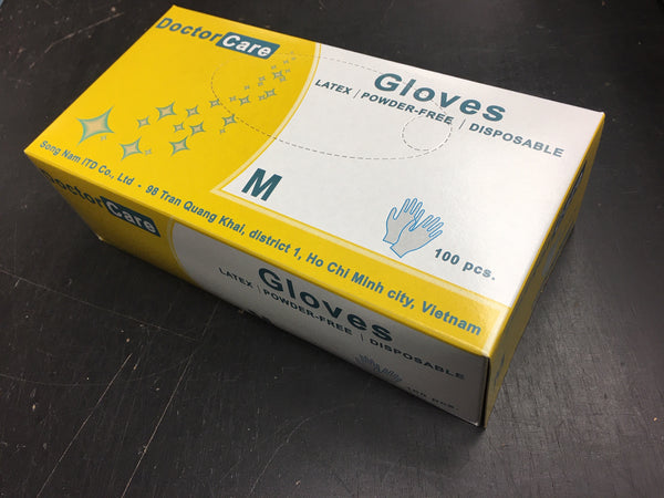 Doctor Care LATEX Powder Free Gloves. NATURAL (BEIGE), 100/box