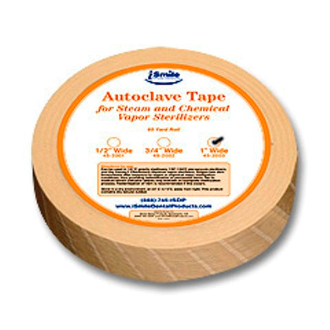 "iSmile Steam Indicator Tape 1"", Beige, 60 yds/roll."