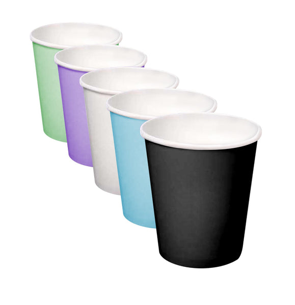BLACK Paper Cups for the Hip Cool People that care about our enviroment, 5oz, 800 pcs/case