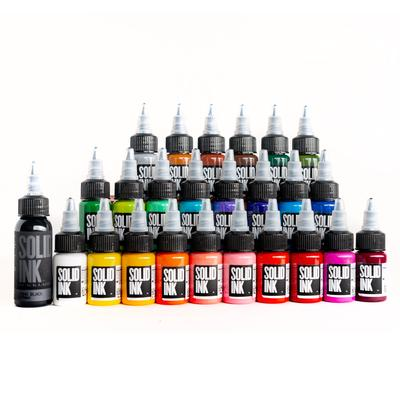 Solid Ink : Travel Set(s) - Half Ounce (1/2 oz), Choose 12 Bottle or 25 Bottles. Best Deal!