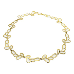 KHYRA necklace / silver 925, 18kt gold plated