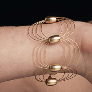 ONDA / Bracelet Wire Gold Color