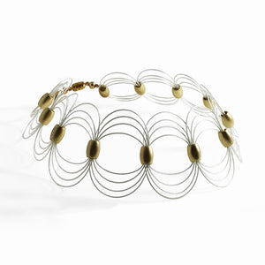 ONDA / Choker Necklace wire 925 Sterlling Silver