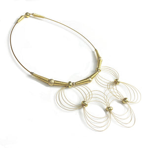 ONDA / Necklace Wire Gold Color