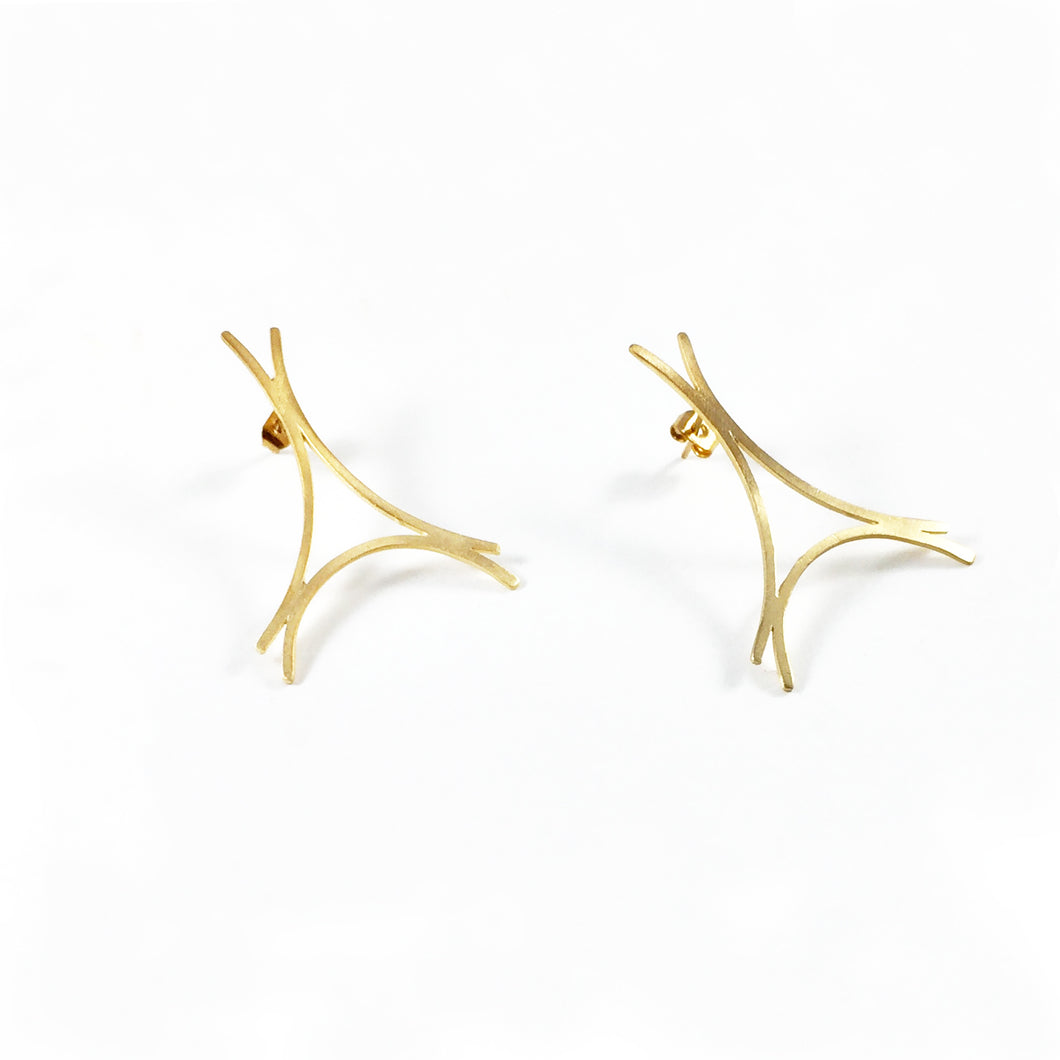 EIFFEL earrings / Silver 925 / Gold Plated 18k