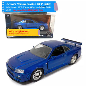 1/32 Fast and Furious Die Cast Cars
