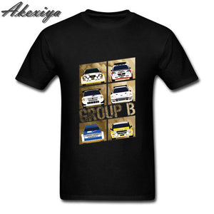 Men t-shirt New Group B Rally Car Tee Shirts Short Sleeve Homme Fashion Plus Size DIY Tops black friday raglan sleeve