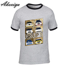 Load image into Gallery viewer, Men t-shirt New Group B Rally Car Tee Shirts Short Sleeve Homme Fashion Plus Size DIY Tops black friday raglan sleeve