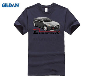 HOT Men'S Funny T shirt Men Clothing Lancer Ralliart Evolution X White Or Gray T-Shirt Evo 10 Rally cool