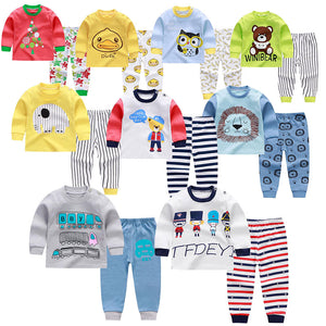 4aa00c878 Baby Boys Clothes 2019 Spring Autumn Cartoon Leisure Long Sleeved T-shirts  + Pants Newborn