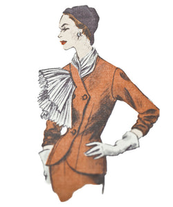 Sewing a 1950's Vintage Couture Jacket designed by Jeanne Paquin