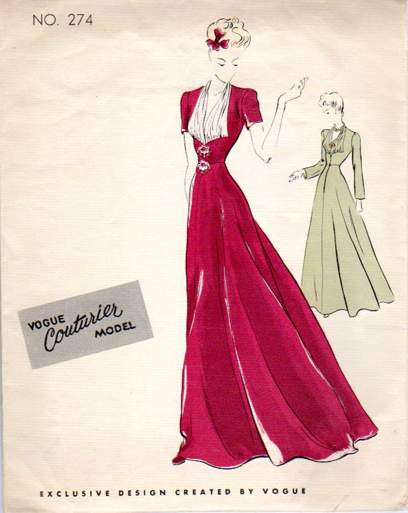 1930's Vogue Couturier Pattern by Mooshi Couture