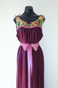 Ornamental Satin Gown