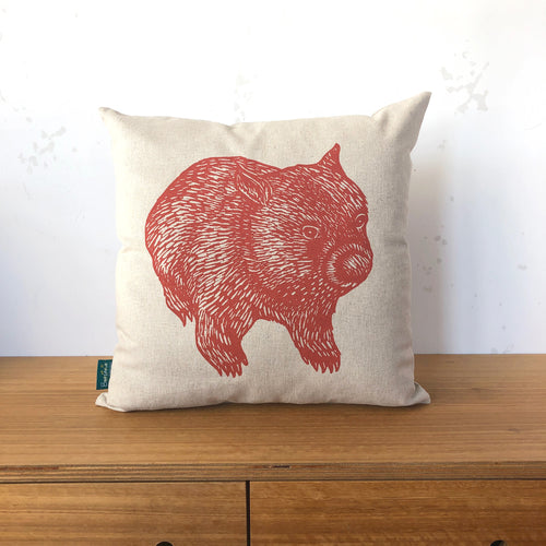 Wombat front + back cushion – rust