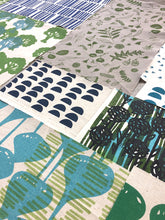 Load image into Gallery viewer, Organic fabric bundle - blue, green